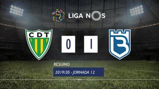 Liga NOS (12ªJ): Resumo CD Tondela 0-1 Belenenses SAD