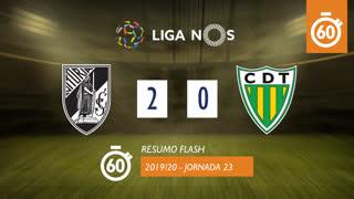 Liga NOS (23ªJ): Resumo Flash Vitória SC 2-0 CD Tondela