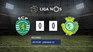 Liga NOS (33ªJ): Resumo Sporting CP 0-0 Vitória FC