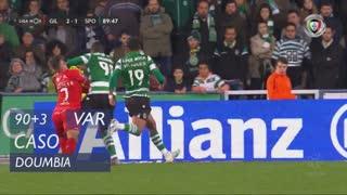 Sporting CP, Caso, Doumbia aos 90'+3'