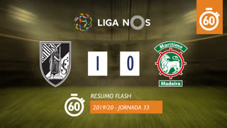 Liga NOS (33ªJ): Resumo Flash Vitória SC 1-0 Marítimo M.