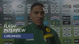 Liga (24ª): Flash Interview Carlinhos