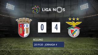 Liga NOS (4ªJ): Resumo SC Braga 0-4 SL Benfica