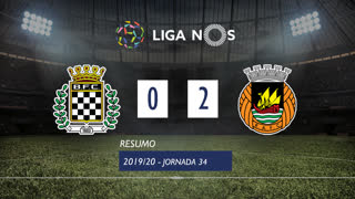 Liga NOS (34ªJ): Resumo Boavista FC 0-2 Rio Ave FC