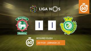 Liga NOS (25ªJ): Resumo Flash Marítimo M. 1-1 Vitória FC
