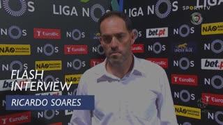 """Ricardo Soares: """"Dominámos grande parte do jogo"""""""