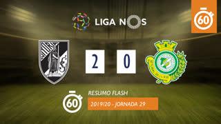 Liga NOS (29ªJ): Resumo Flash Vitória SC 2-0 Vitória FC
