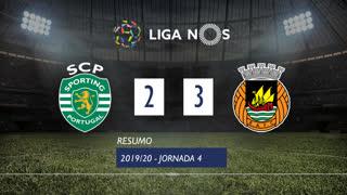 Liga NOS (4ªJ): Resumo Sporting CP 2-3 Rio Ave FC