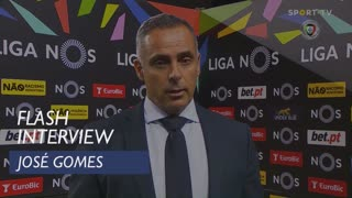 José Gomes lamentou ineficácia da sua equipa
