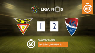 Liga NOS (11ªJ): Resumo Flash CD Aves 1-2 Gil Vicente FC