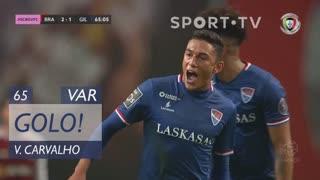 GOLO! Gil Vicente FC, Vitor Carvalho aos 65', SC Braga 2-1 Gil Vicente FC