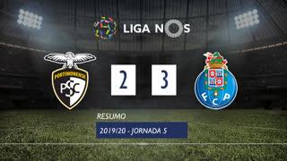 Liga NOS (5ªJ): Resumo Portimonense 2-3 FC Porto