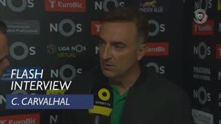 Liga (4ª): Flash Interview Carlos Carvalhal