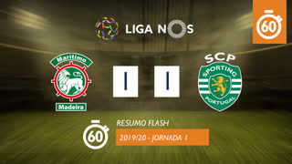 I Liga (1ªJ): Resumo Flash Marítimo M. 1-1 Sporting CP