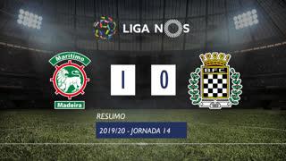 Liga NOS (14ªJ): Resumo Marítimo M. 1-0 Boavista FC