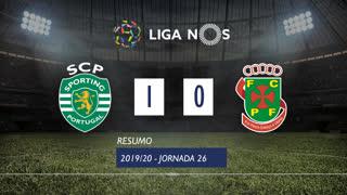 Liga NOS (26ªJ): Resumo Sporting CP 1-0 FC P.Ferreira