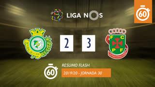Liga NOS (30ªJ): Resumo Flash Vitória FC 2-3 FC P.Ferreira