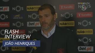 Liga (23ª): Flash Interview João Henriques