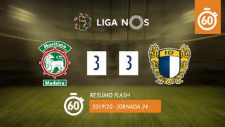Liga NOS (34ªJ): Resumo Flash Marítimo M. 3-3 FC Famalicão