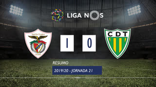 Liga NOS (21ªJ): Resumo Santa Clara 1-0 CD Tondela