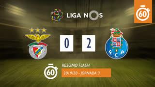 Liga NOS (3ªJ): Resumo Flash SL Benfica 0-2 FC Porto