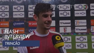 Liga (19ª): Flash Interview Trincão