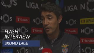 Liga (1ª): Flash Interview Bruno Lage