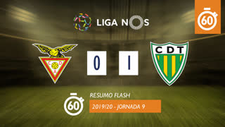 I Liga (9ªJ): Resumo Flash CD Aves 0-1 CD Tondela