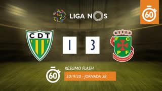 Liga NOS (28ªJ): Resumo Flash CD Tondela 1-3 FC P.Ferreira