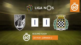 Liga NOS (2ªJ): Resumo Flash Vitória SC 1-1 Boavista FC