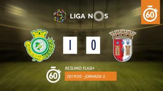 Liga NOS (5ªJ): Resumo Flash Vitória FC 1-0 SC Braga
