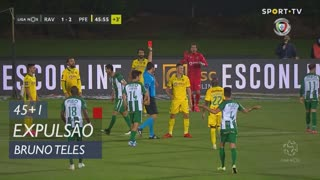FC P.Ferreira, Expulsão, Bruno Teles aos 45'+1'
