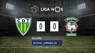 Liga NOS (20ªJ): Resumo CD Tondela 0-0 Marítimo M.