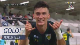GOLO! CD Tondela, Pepelu aos 90', Moreirense FC 1-2 CD Tondela
