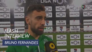 Liga (12ª): Flash Interview Bruno Fernandes