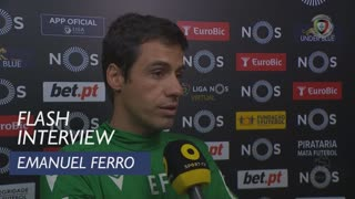 Liga (13ª): Flash Interview Emanuel Ferro