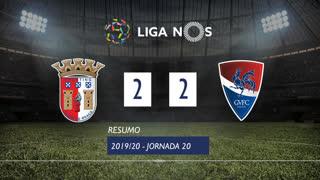 Liga NOS (20ªJ): Resumo SC Braga 2-2 Gil Vicente FC