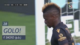 GOLO! Belenenses SAD, F. Sacko (p.b.) aos 28', Belenenses SAD 1-0 Vitória SC