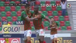 GOLO! Marítimo M., Nanu aos 54', Marítimo M. 2-0 FC P.Ferreira