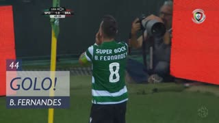 GOLO! Sporting CP, Bruno Fernandes aos 44', Sporting CP 2-0 SC Braga