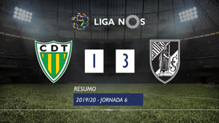 Liga NOS (6ªJ): Resumo CD Tondela 1-3 Vitória SC