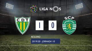 Liga NOS (10ªJ): Resumo CD Tondela 1-0 Sporting CP
