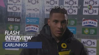 Liga (16ª): Flash Interview Carlinhos