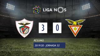 Liga NOS (32ªJ): Resumo Santa Clara 3-0 CD Aves