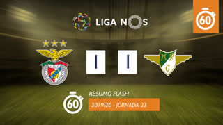 Liga NOS (23ªJ): Resumo Flash SL Benfica 1-1 Moreirense FC
