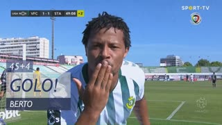GOLO! Vitória FC, Berto aos 45'+4', Vitória FC 1-1 Santa Clara