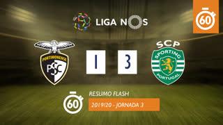 Liga NOS (3ªJ): Resumo Flash Portimonense 1-3 Sporting CP