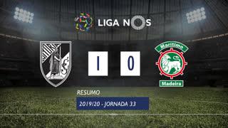 Liga NOS (33ªJ): Resumo Vitória SC 1-0 Marítimo M.