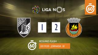 Liga NOS (18ªJ): Resumo Flash Vitória SC 1-2 Rio Ave FC