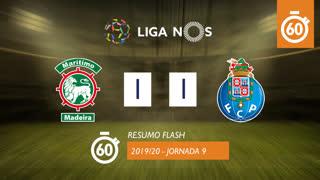 Liga NOS (9ªJ): Resumo Flash Marítimo M. 1-1 FC Porto